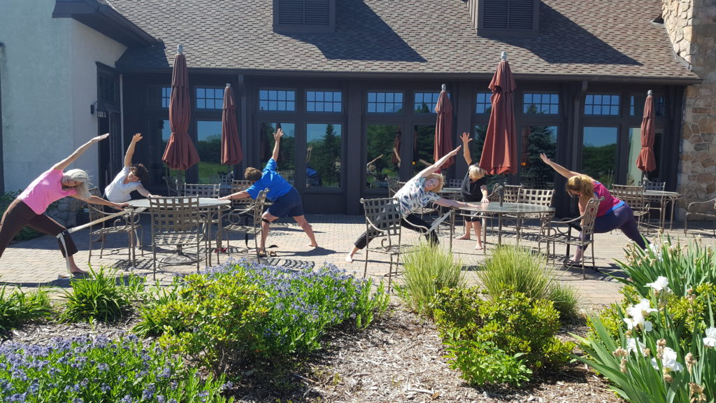 midland Hills patio yoga