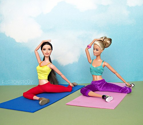 Barbie yoga