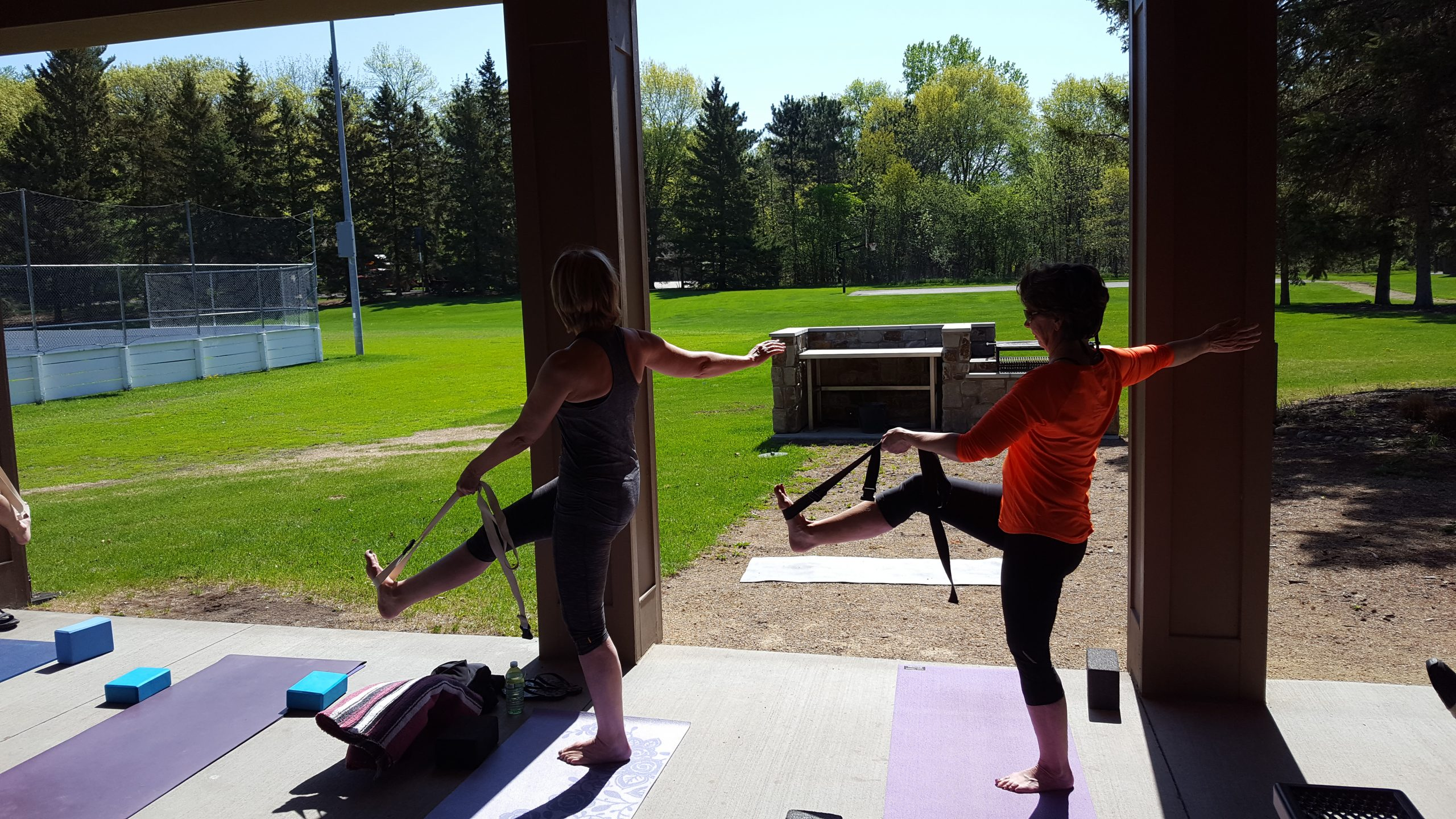 outdoor yoga over 40